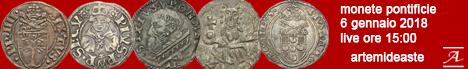 Banner Artemide Aste - Asta di Monete di Zecche Papali