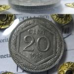 20 cent 1918 rigato SRT