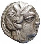 Mondo Greco - Attica. Atene. dopo il 490 a.C. Tetradracma. AG. D/ Testa di Athena a destra. R/ AΘE. Civetta stante a destra con la testa di fronte. A sinistra ramo d olivo e crescente. Cfr. Grose 5816. Peso gr. 17,12. Diametro mm. 22,81 x 24,26.Bel BB+.