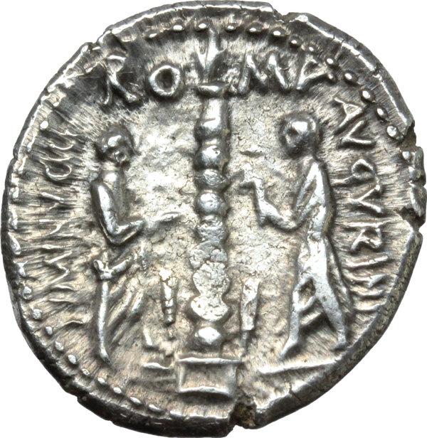 Lot 213 ti minucius c f augurinus ar denarius 134 bc - Artemide vendita straordinaria 2017 ...