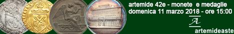 Banner Artemide 42E - Monete Medievali e Moderne