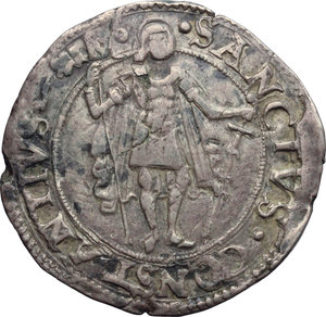 Carmagnola  Michele Antonio di Saluzzo (1504-1528). Testone
