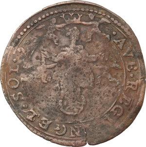 Guastalla  Ferrante II Gonzaga (1575-1630) Da 2 soldi con stemma e la Beata Vergine tra angeli.