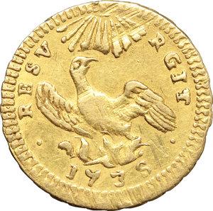Palermo  Carlo di Borbone (1734-1759) Oncia d oro 1735