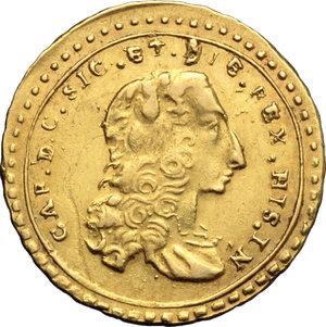 Palermo  Carlo di Borbone (1734-1759) Oncia 1744