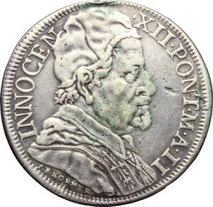 Roma  Innocenzo XII (1691-1700) Mezza piastra A. II