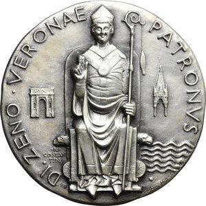 Verona  Commvnitas Veronensis Medaglia per San Zeno, patrono