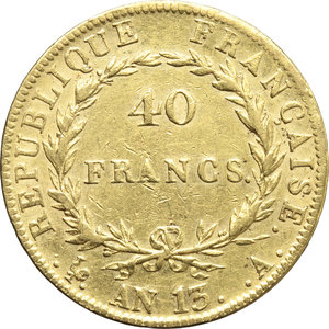 Francia  Napoleone Bonaparte (1804-1814) 40 franchi AN 13 A