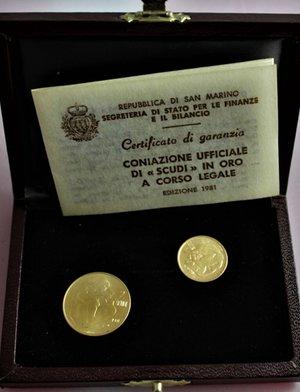 San Marino. 1 e 2 Scudi 1981.