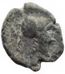obverse: Mondo Greco -Apulia. Arpi.III sec. a.C.AE.D/ Testa di Athena con elmo corinzio a destra.R/ Grappolo d uva.SNG ANS 646.Pesogr. 3.23. Diametro mm.14,6 x 16,2.BB.