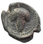 reverse: Mondo Greco -Apulia. Arpi.III sec. a.C.AE.D/ Testa di Athena con elmo corinzio a destra.R/ Grappolo d uva.SNG ANS 646.Pesogr. 3.23. Diametro mm.14,6 x 16,2.BB.