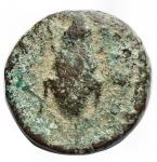 obverse: Mondo Greco -Apulia. Luceria.ca. 210-200 a.C.Oncia. Ae.D/ Apollo a destra.R/ LOVCERI. Rana.SNG ANS 709.Pesogr. 3,11.Diametro mm. 14,48.MB-qBB. Patina verde.