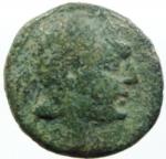 obverse: Mondo GrecoI. Apulia. Rubi. 300 a.C.AE.D\ Testa del giovane Eracle a destra. R\. ΡΥΨ Clava in corona d alloro. HNItaly 815. SNG ANS 725. Peso gr. 3.57 BB.R. w