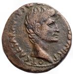 obverse: Impero Romano -Augusto. 27 a.C-14 d.C.Asse. Ae. D/ CAESAR AVGVST PONT MAX TRIBVNIC POT. Testa nuda a destra.R/ P LVRIVS AGRIPPA III VIR AAA FF intorno a grande SC. Peso gr. 9,98. Diametro mm. 26,9. BB.§