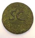 reverse: Impero Romano. Augusto. 27 a.C.-17 d.C. Asse. Ae. D/ AVGVSTVS TRIBVNIC POTEST Testa di Augusto verso destra. R/ L SVRDINVS III VIR A A A F F. RIC.386. Peso 12,25 gr. Diametro 27,00 mm. qBB. Patina verde. Incrostazioni. R.°°