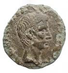obverse: Impero Romano - Augusto. 27 a.C. - 14 d.C.Asse. Ae. D/ Testa di Augusto verso destra. R  ASINIVS GALLUS II VIR AAA FF nel campo SC. C.369 Spagna. Peso 8,79 gr. Diametro 25,4 x 26,5 mm.BB.