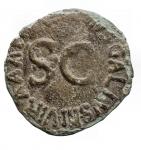 reverse: Impero Romano - Augusto. 27 a.C. - 14 d.C.Asse. Ae. D/ Testa di Augusto verso destra. R  ASINIVS GALLUS II VIR AAA FF nel campo SC. C.369 Spagna. Peso 8,79 gr. Diametro 25,4 x 26,5 mm.BB.