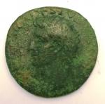 obverse: Impero Romano. Augusto. 43 a.C.-17 d.C. Asse. Ae. D/ IMP CAESAR DIVI F AVGVSTVS IMP XX Testa a sinistra. R/ Livia seduta tra un grande SC. Ric.471. Peso 10,22 gr. Diametro 29,00 mm. qBB.°°