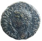 obverse: Impero Romano. Augusto. 27 a.C.-14 d.C. Dupondio. Ae. D/ DIVVS AVGVSTVS PATER Testa radiata verso sinistra, davanti un fulmine. R/ Livia con scettro seduta verso destra tra SC. RIC.71. Peso 10,2 gr. Diametro 7,4 mm. qBB.ç