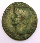 obverse: Impero Romano. Augusto. 27 a.C. - 14 d.C. Dupondio. Ae. D/ Testa di Augusto con corona radiata verso sinistra DIVVS AVGVSTVS PATER. R/ Aquila SC. RIC.82 (Tiberio). Peso 9,56 gr. Diametro 24,26 mm. BB+.°°