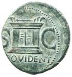 reverse: Impero Romano. Augusto 27 a.C. - 14 d.C. Asse. Ae. D/ Testa di Augusto verso sinistra DIVVS AVGVSTVS PATER. R/ PROVIDENT Altare tra SC. RIC.81 (Tiberio). Peso 11,40 gr. Diametro 27,70 mm. qSPL.