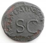 reverse: Impero Romano. Tiberio. 14 a.C.- 37 d.C.Asse. Ae. D/ TI CAESAR AVGVST F IMPERAT Testa di Tiberio verso destra. R/ PONTIFEX TRIBVN POTESTATE XII nel campo SC. Coh.27. Peso 10,00 gr. Diametro 29 mm. D. Buona la conservazione ma corrosioni diffuse.