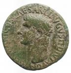 obverse: Impero Romano -Germanico, figlio di Nerone Claudio Druso e Antonia (deceduto nel 19 d.C.).Asse, emesso da Caligola. Ae. D/ GERMANICVS CAESAR TI AVGVST F DIVI AVG N. Testa nuda a sinistra.R/ C CAESAR AVG GERMANICVS PON M TR POT intorno a grande SC.RIC (Gaius) 35. Peso gr. 10,29. BB-qBB. Patina verde chiaro.