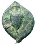 reverse: Mondo Greco. Bruttium. Hipponion. Vibo Valentia. 300-275 a.C. Obolo. Ae. D/ Testa di Zeus a destra. R/ Anfora, caduceo ed etnico. SNG ANS 458. Peso 5,80 gr. Diametro 19,00 mm. qBB. R.
