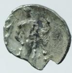 reverse: Mondo Greco. Lucania. Heraclea. 380-281 a.C. Diobolo. Ag. D/ Testa di atena a destra. R/ Eracle con la pelle del leone Nemeo., incoronato da NIke.SNG ANS 70. Peso 0,85 gr. Diametro 11,99 mm. qSPL. R.