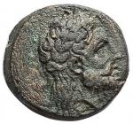 obverse: Mondo Greco - Lucania. Metaponto. ca 300-250 a.C. Ae. D/ Testa di Dioniso ? a destra. R/ META Spiga Torcia. Peso gr. 2,77. Diametro mm. 15,83. qSPL. R.