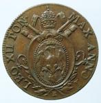 obverse: Zecche Italiane. Bologna. Leone XII. 1823-1829. Mezzo baiocco 1824. AE. M. 15. Berm. 3257. Peso gr. 6.00. Diametro mm. 25.50. SPL.