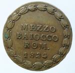 reverse: Zecche Italiane. Bologna. Leone XII. 1823-1829. Mezzo baiocco 1824. AE. M. 15. Berm. 3257. Peso gr. 6.00. Diametro mm. 25.50. SPL.