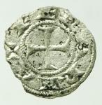 reverse: Zecche Italiane. Ferrara. Comune (XIII-XIV sec.). Denaro al nome di Federico. B. 741. R. MI. Bel BB.gf