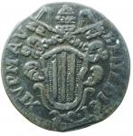 obverse: Zecche Italiane. Ferrara. Benedetto XIV. 1740-1758. Mezzo baiocco 1745. AE. M.281. Peso gr. 4.70. qSPL.