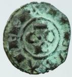 obverse: Zecche Italiane.Gli Svevi in Italia.Messina Corrado I (1250-1254) Denaro. D/ COR. R/ Croce. Sp.158. MI, 0.60gr. qBB.§