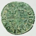 reverse: Zecche Italiane. Milano. Filippo III (1598-1621). Quattrino 1603. Cr. 24d. AE. BB.Patina Verde.gf