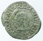 obverse: Zecche Italiane. Modena. Francesco I d Este. 1629-1658. Muraiola. MIR 800. Peso 1,10 gr. Diametro 20,17 mm. qBB. R.