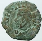 obverse: Zecche Italiane. Napoli. Filippo IIII. 1621-1655. Tornese con il tosone. Data indistinguibile. Peso 4,80 gr. Diametro 25,00 mm. MB+.§