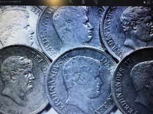 obverse: Zecche Italiane.Napoli Lotto di 6 piastre di Ferdiando II,buone conservazioni anni 1833\36\42\54 2 \55