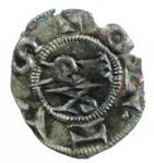 obverse: Zecche Italiane. Parma. Repubblica. Ottone IV. 1208-1209. Denaro. MI. B.1785. Peso 0,50 gr. SPL. NC. *