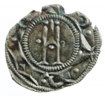 reverse: Zecche Italiane. Parma. Repubblica. Ottone IV. 1208-1209. Denaro. MI. B.1785. Peso 0,50 gr. SPL. NC. *
