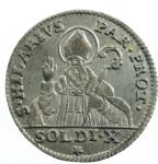 reverse: Zecche Italiane. Parma. Ferdinando di Borbone. 1760-1802. 10 soldi 1795. MI. CNI 144. Peso gr. 2.00. SPL.*