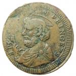 obverse: Zecche Italiane. Perugia. Pio VI. 1775-1799. Sampietrino 1797. AE. M.392/393a. BB+. R.