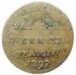 reverse: Zecche Italiane. Perugia. Pio VI. 1775-1799. Sampietrino 1797. AE. M.392/393a. BB+. R.