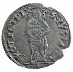 obverse: Zecche Italiane. Piacenza. Paolo III. 1534-1549. Grosso con S. Giustina. AG. M. 179. Peso 1,57 gr. qSPL.*