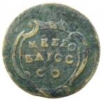 reverse: Zecche Italiane. Ravenna. Benedetto XIV. 1740-1758. Mezzo baiocco s.d. AE. M.605. CNI 104. Peso gr. 4,77. Diametro mm. 28. MB. Colpo al diritto. RRR.