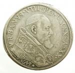 obverse: Zecche Italiane. Roma. Urbano VIII. 1623-1644. Piastra 1643 A. XX. AG. M. 31. Berm. 1710. CNI 436. Peso gr. 31.66. BB. R.