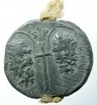 obverse: Zecche Italiane. Roma. Benedetto XIV. Prospero Lambertini. 1740-1758. Bolla. PB. Ser. 1471. Peso 61,00 gr. SPL.