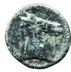 obverse: Mondo Greco. Cartaginesi in Sicilia. ca 320-300 a.C. Obolo. Ag. D\ Palma con datteri. R\ Protome equina. SNG lloyd 1612. Peso 0,60 gr. Buon BB.§
