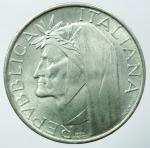 obverse: Repubblica Italiana.500 lire 1965 Dante Alighieri. AG.SPL.§